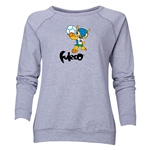 2014 FIFA World Cup Brazil(TM) Women's Official Mascot Crewneck Sweatshirt (Grey)