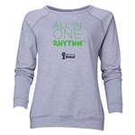 2014 FIFA World Cup Brazil(TM) Women's All in One Rhythm Crewneck Sweatshirt (Grey)