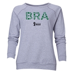 Brazil 2014 FIFA World Cup Brazil(TM) Women's Elements Crewneck Sweatshirt (Grey)