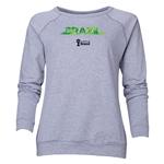 Brazil 2014 FIFA World Cup Brazil(TM) Women's Palm Crewneck Sweatshirt (Grey)