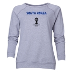 South Korea 2014 FIFA World Cup Brazil(TM) Women's Core Crewneck Sweatshirt (Grey)