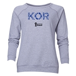 South Korea 2014 FIFA World Cup Brazil(TM) Women's Elements Crewneck Sweatshirt (Grey)