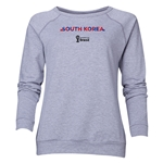 South Korea 2014 FIFA World Cup Brazil(TM) Women's Palm Crewneck Sweatshirt (Grey)