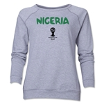 Nigeria 2014 FIFA World Cup Brazil(TM) Core Women's Crewneck Fleece (Grey)