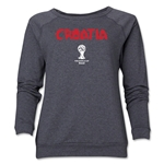Croatia 2014 FIFA World Cup Brazil(TM) Core Women's Crewneck Fleece (Dark Grey)