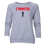 Croatia 2014 FIFA World Cup Brazil(TM) Core Women's Crewneck Fleece (Grey)