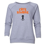 Cote d'Ivoire 2014 FIFA World Cup Brazil(TM) Core Women's Crewneck Fleece (Grey)