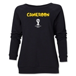 Cameroon 2014 FIFA World Cup Brazil(TM) Core Women's Crewneck (Black)