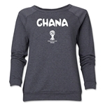 Ghana 2014 FIFA World Cup Brazil(TM) Core Women's Crewneck (Dark Grey)