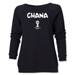 Ghana 2014 FIFA World Cup Brazil(TM) Core Women's Crewneck (Black)