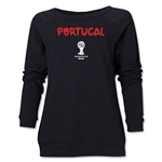 Portugal 2014 FIFA World Cup Brazil(TM) Core Women's Crewneck (Black)
