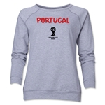 Portugal 2014 FIFA World Cup Brazil(TM) Core Women's Crewneck (Grey)