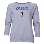 Greece 2014 FIFA World Cup Brazil(TM) Core Women's Crewneck (Grey)