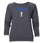 Greece 2014 FIFA World Cup Brazil(TM) Core Women's Crewneck (Dark Grey)