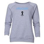 Uruguay 2014 FIFA World Cup Brazil(TM) Core Women's Crewneck (Grey)