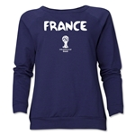 France 2014 FIFA World Cup Brazil(TM) Core Women's Crewneck (Navy)