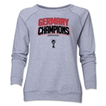 Germany 2014 FIFA World Cup Brazil(TM) Champions Logotype Women's Crewneck (Grey)