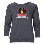 Germany 2014 FIFA World Cup Brazil(TM) Champions Official Look Trophy Women's Crewneck (Grey)