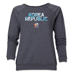 South Korea FIFA Women's World Cup Canada 2015(TM) Women's Core Crewneck Sweatshirt (Dark Grey)