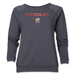 Switzerland FIFA Women's World Cup Canada 2015(TM) Women's Crewneck Sweatshirt (Dark Grey)