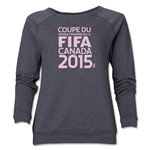 FIFA Women's World Cup Canada 2015(TM).Women's French Logotype Crewneck Sweatshirt (Dark Grey)