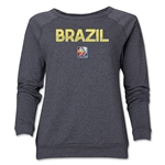Brazil FIFA Women's World Cup Canada 2015(TM) Women's Core Crewneck Sweatshirt (Dark Grey)