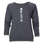 FIFA Women's World Cup Canada 2015(TM).Women's French Trophy 1 Crewneck Sweatshirt (Dark Grey)