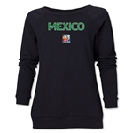 Mexico FIFA Women's World Cup Canada 2015(TM) Women's Core Crewneck Sweatshirt (Black)