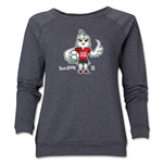 FIFA Women's World Cup Canada 2015(TM) Women's Mascot Pose 1 Crewneck Sweatshirt (Dark Grey)