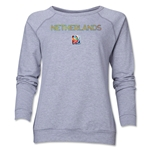 Netherlands FIFA Women's World Cup Canada 2015(TM) Women's Core Crewneck Sweatshirt (Grey)