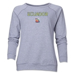 Ecuador FIFA Women's World Cup Canada 2015(TM) Women's Core Crewneck Sweatshirt (Grey)