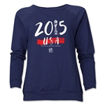 USA Women's World Cup Champions Women's Crewneck Fleece (Navy)