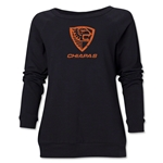 Jaguares Distressed Women's Crewneck Fleece (Black)
