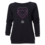 Newcastle United Heart Women's Crewneck Sweatshirt