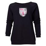 Pink FC Women's Crewneck Sweatshirt (Black)