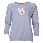 Pink FC Women's Crewneck Sweatshirt (Gray)
