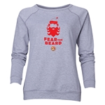 FC Santa Claus Fear the Beard Women's Crewneck Fleece (Gray)