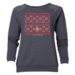 FC Santa Claus Christmas Sweater Women's Crewneck Fleece (Dark Gray)