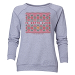 FC Santa Claus Christmas Sweater Women's Crewneck Fleece (Gray)