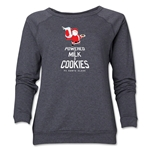 FC Santa Claus Milk and Cookies Women's Crewneck Fleece (Dark Gray)