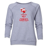 FC Santa Claus Milk and Cookies Women's Crewneck Fleece (Gray)