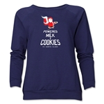 FC Santa Claus Milk and Cookies Women's Crewneck Fleece (Navy)