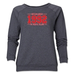 FC Santa Claus Established 1992 Women's Crewneck Fleece (Dark Gray)