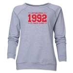 FC Santa Claus Established 1992 Women's Crewneck Fleece (Gray)