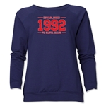 FC Santa Claus Established 1992 Women's Crewneck Fleece (Navy)