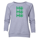 FC Santa Claus Ho, Ho, Ho Women's Crewneck Fleece (Gray)