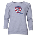 USA Sevens Vegas Rugby Women's Crewneck Fleece (Gray)