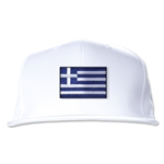 Greece Flatbill Cap (White)