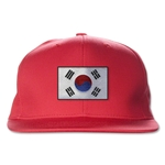 South Korea Flatbill Cap (Red)