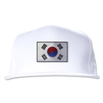 South Korea Flatbill Cap (White)